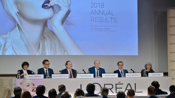 L'Oréal annual results 2018: best sales growth in more than